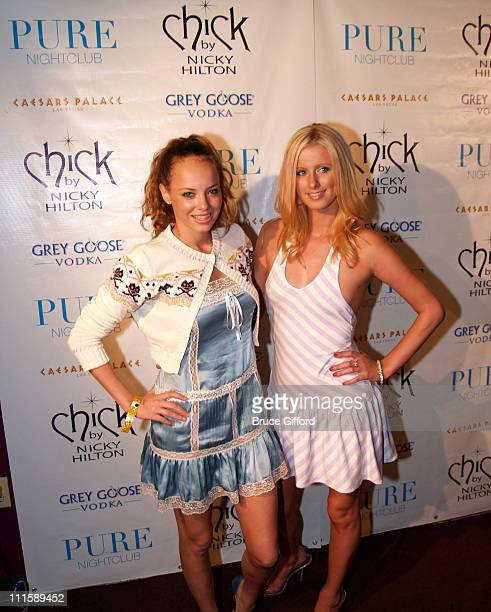 Bijou Phillips and Nicky Hilton during 1st Anniversary Chick by Nicky Hilton Fashion Show at Caesars Hotel and Casino - Pure Nightclub in Las Vegas,...