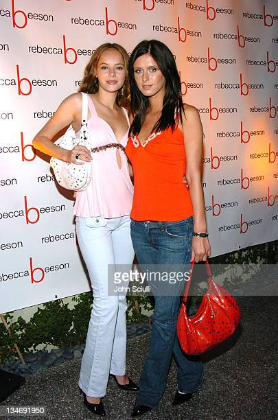 Bijou Phillips and Nicky Hilton during Cocktail Party By Rebecca Beeson to Celebrate Her Spring 2005 Collection at Avalon Hotel in Los Angeles...