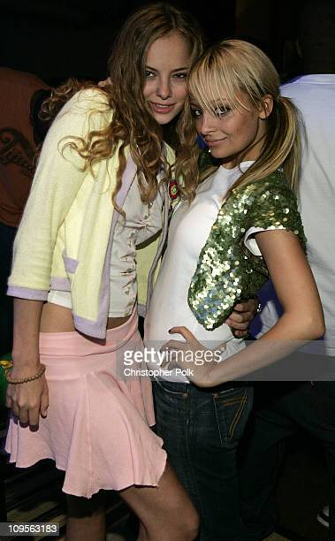 """Bijou Phillips and Nicole Richie during Maxim and Bloomingdales Bowl to Benefit """"Rock the Vote"""" - Inside at Lucky Strike Lanes in Hollywood,..."""