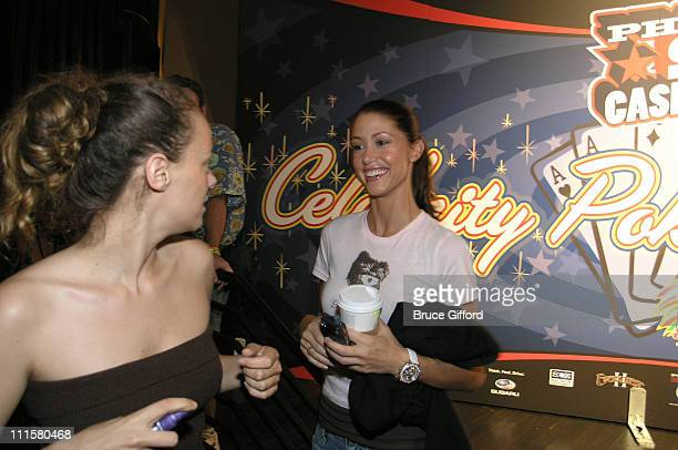 Bijou Phillips and Shannon Elizabeth during Stuff Magazine Phat Farm Poker Tournament at The Palms Hotel and Casino in Las Vegas Nevada United States
