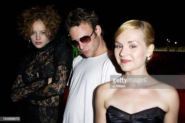 Bijou Phillips Brad Renfro and Rachel Miner during Venice 2001 Bully Party at Pachuka in Venice Lido Italy