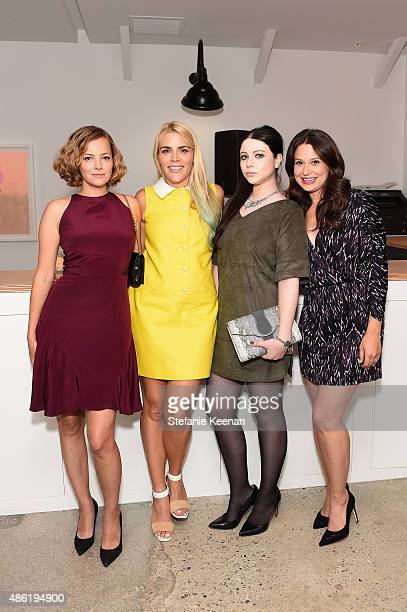 Bijou Phillips Busy Phillips Michelle Trachtenberg and Katie Lowes attend The A List 15th Anniversary Party on September 1 2015 in Beverly Hills...