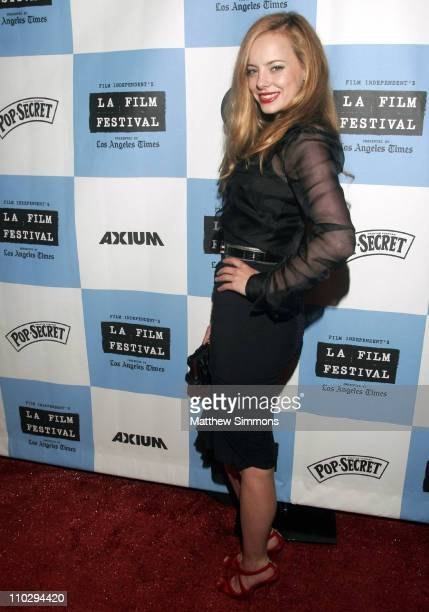 """Bijou Phillips during 2007 Los Angeles Film Festival - """"Wizard of Gore"""" - Arrivals at Majestic Theater in West Los Angeles, California, United States."""
