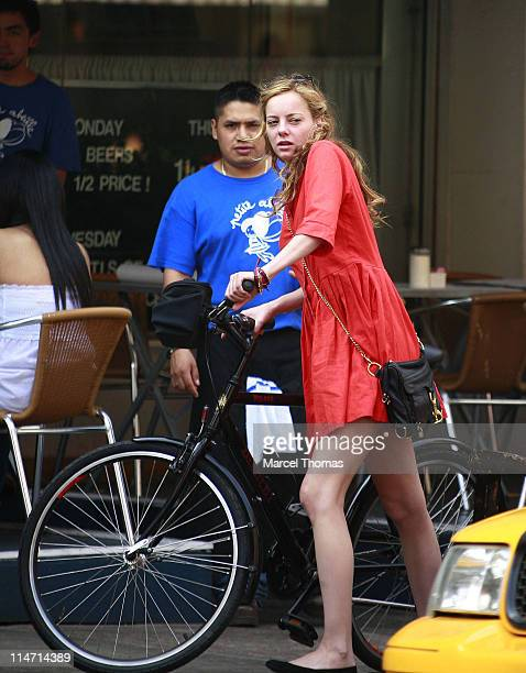 Bijou Phillips during Bijou Phillips and Danny Masterton Sighting in SOHO June 2 2007 at SOHO in New York City New York United States