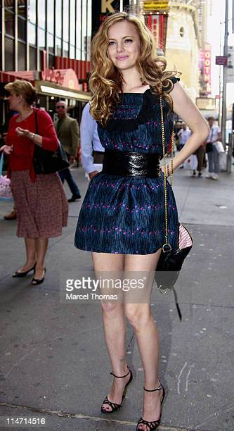 Bijou Phillips during Jessica Alba Michael Chiklis Kathy Griffin Bijiou Philips and Eli Roth Visit MTV's TRL June 6 2007 at MTV Studios in New York...
