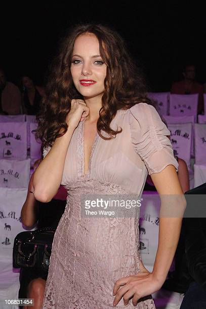 Bijou Phillips during Olympus Fashion Week Spring 2006 Gwen Stefani for LAMB Front Row and Backstage at Roseland in New York City New York United...