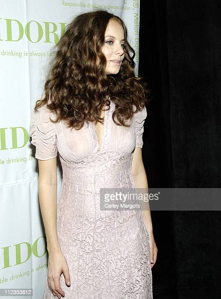 Bijou Phillips during Olympus Fashion Week Spring 2006 Heatherette Backstage at Bryant Park in New York City New York United States