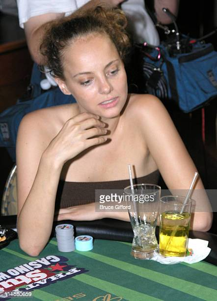 Bijou Phillips during Stuff Magazine Phat Farm Poker Tournament at The Palms Hotel and Casino in Las Vegas Nevada United States