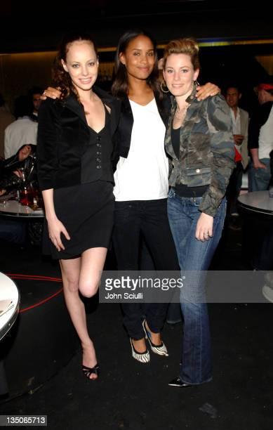 Bijou Phillips, Joy Bryant and Elizabeth Banks during Joy Bryant, Elizabeth Banks and Bijou Phillips Host Mean Magazine Release Party Sponsored by...