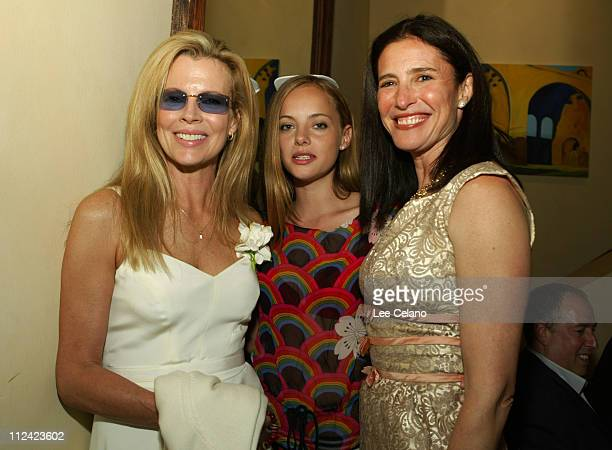 Bijou Phillips Mimi Rogers and Kim Basinger during 'The Door in the Floor' Premiere Cocktail Reception at Restaurant NU in Santa Barbara California...