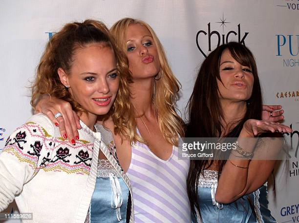 Bijou Phillips, Nicky Hilton and Robin Antin during 1st Anniversary Chick by Nicky Hilton Fashion Show at Caesars Hotel and Casino - Pure Nightclub...