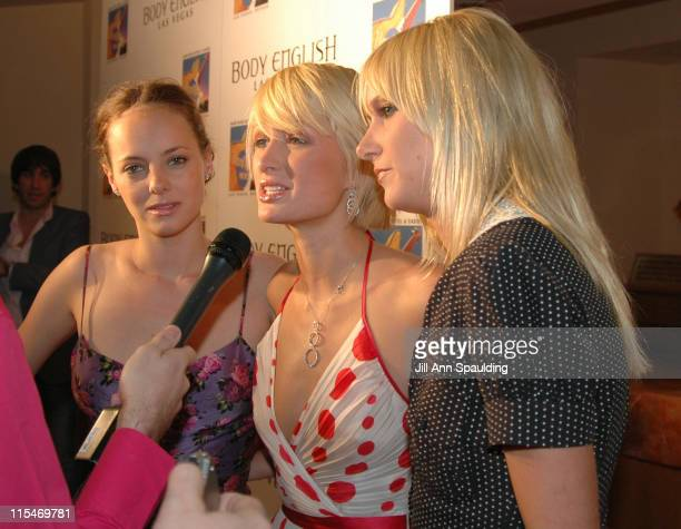 Bijou Phillips Paris Hilton and Kim Stewart during OneYear Anniversary Weekend of Body English at The Hard Rock Hotel and Casino in Las Vegas Nevada...