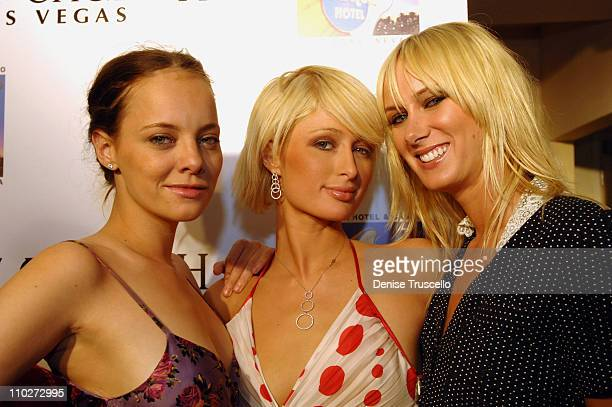 Bijou Phillips Paris Hilton and Kimberly Stewart during Anniversary Weekend of Body English at Hard Rock Hotel Casino Party at Body English Night 2...