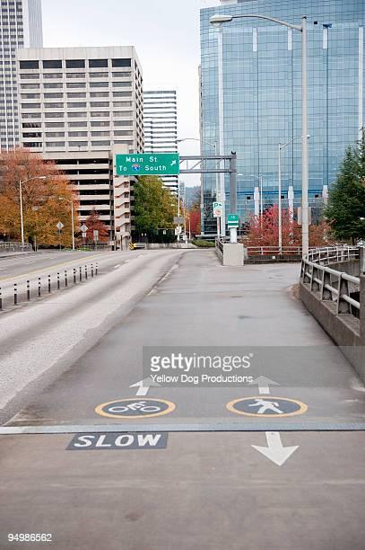 Bike and Pedestrian lanes in Portland, OR