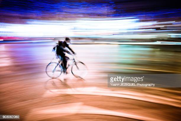 Bike At Night, Champs Elysees, Paris