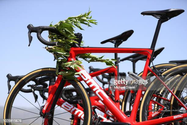 Bike / BMC Racing Team / Detail View / during the 73rd Tour of Spain 2018 / Stage 8 a 1951km stage from Linares to Almaden 550m / La Vuelta / on...