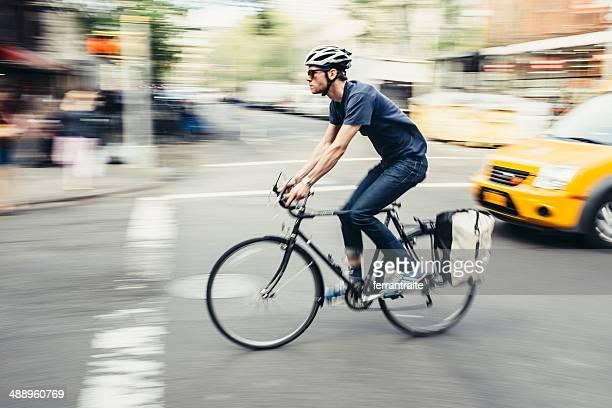 Fahrrad Pendler in New York