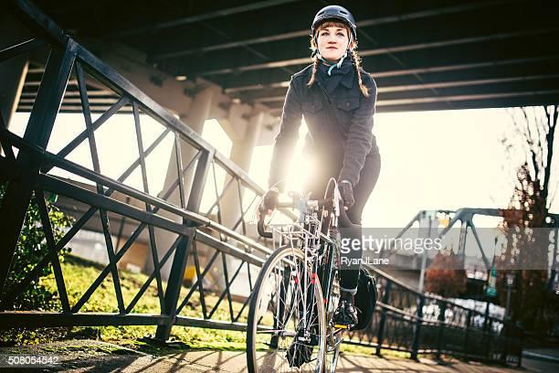 Fahrrad Pendler in Portland, Oregon