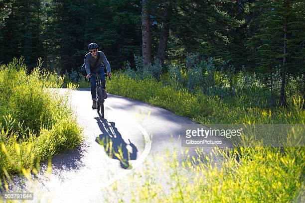 Fahrrad Pendler Mann