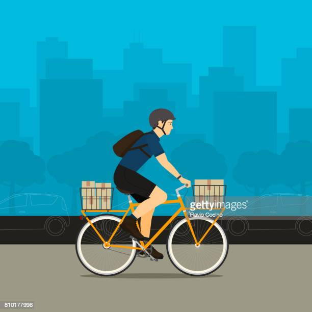 Bike delivery service stock illustration