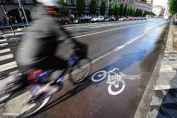 Bike in bicycle lane
