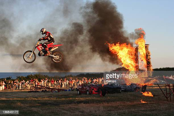 Bike Jumping Through Fire