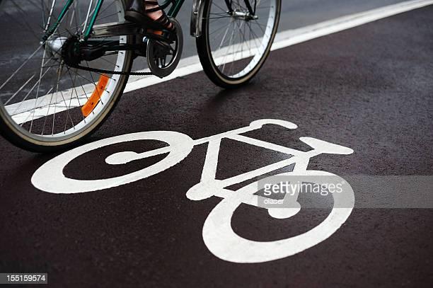 Fahrrad Straße und Verkehr