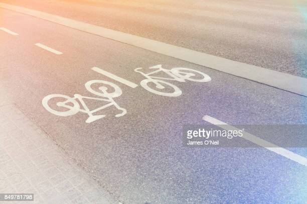 Bike lane, Stockholm, Sweden