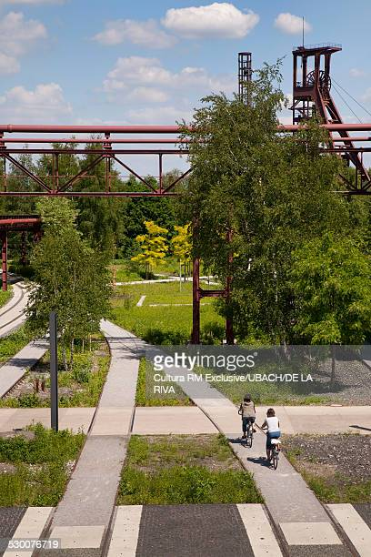 Bike lanes, Zollverein Coal Mine Industrial Complex, Essen, Ruhr Region, Germany