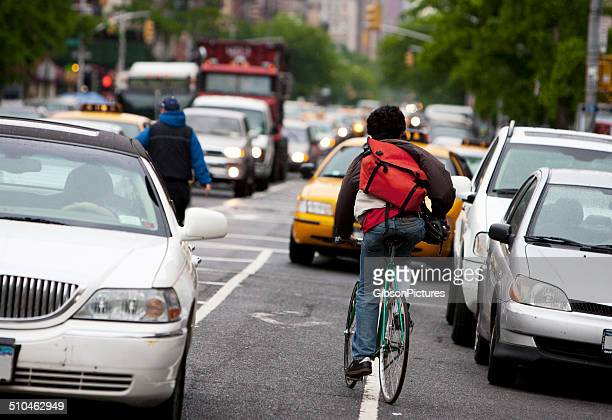 Bike Messenger in New York City