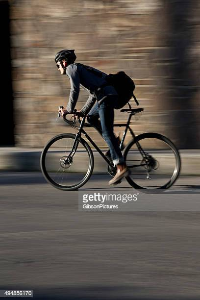 bike messenger - cycling helmet stock pictures, royalty-free photos & images