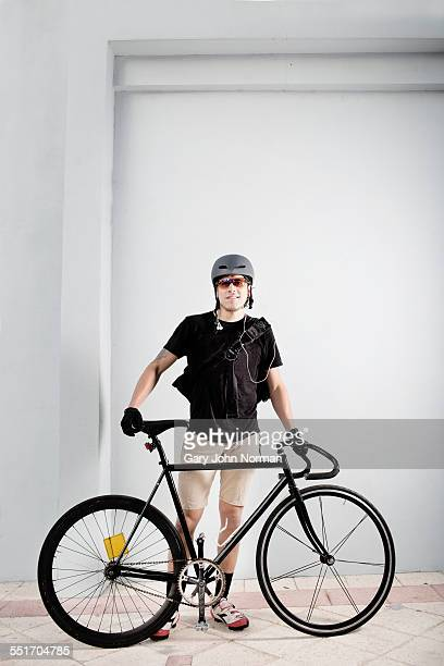 Bike messenger with bike
