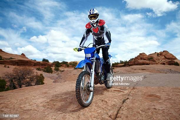 bike on a red rock Bike on a red rock