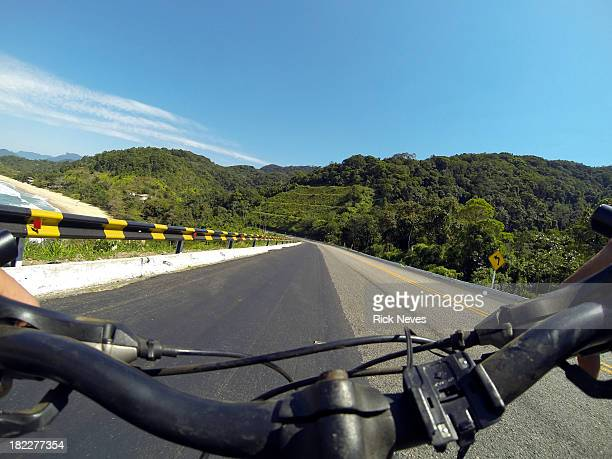 Bike on road - point of view