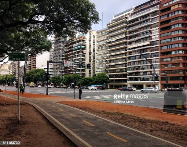 A bike path in Palermo, Buenos Aires