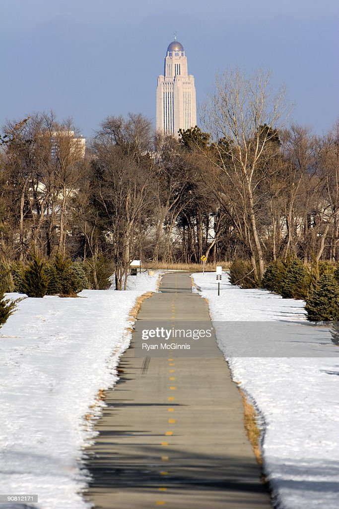 Bike Path Lincoln Nebraska : Stock Photo