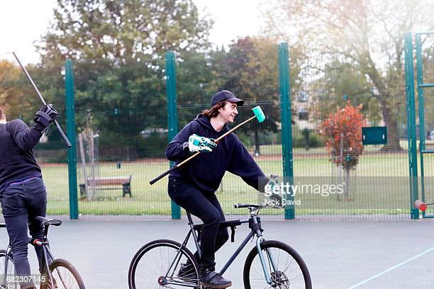 bike polo - polo stock pictures, royalty-free photos & images