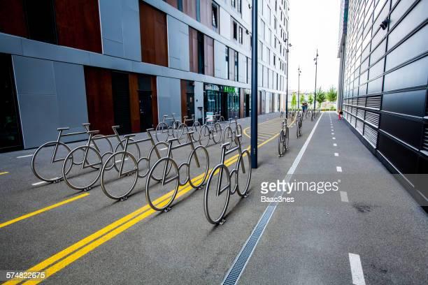 Bike racks at Barcode