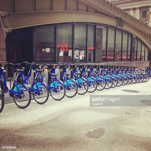bike rental in new york city - citigroup bildbanksfoton och bilder