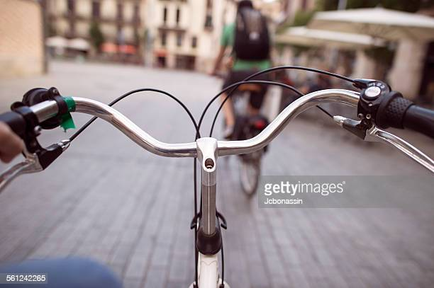 bike ride cycling in the city - jcbonassin stock pictures, royalty-free photos & images