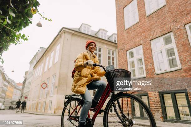 bike ride in my city - scandinavian ethnicity stock pictures, royalty-free photos & images
