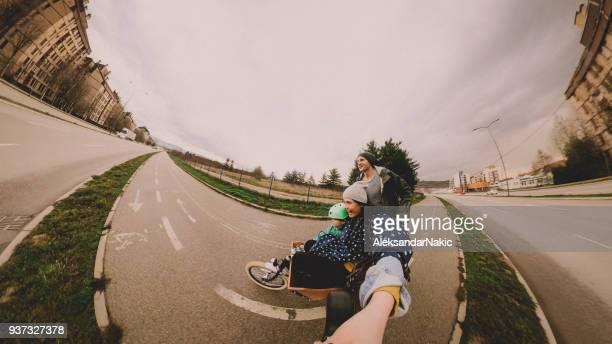 Vélo tour selfie