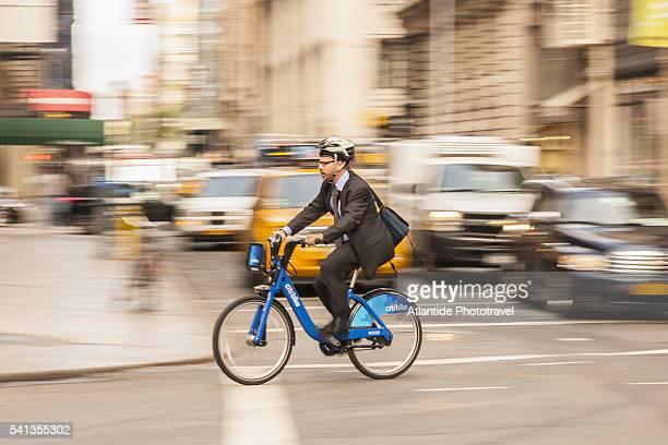 Bike sharing along Broadway