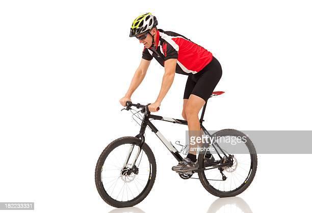 Motociclista en mountainbike