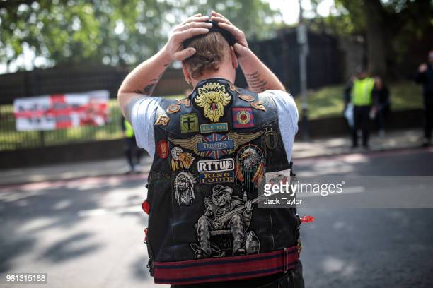 A biker pays his respects at the site of the murder of Fusilier Lee Rigby on the fifth anniversary on May 22 2018 in London England 25yearold...