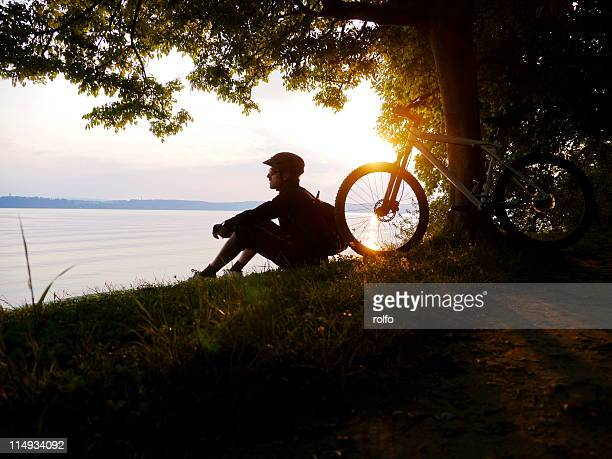 biker - bodensee stock pictures, royalty-free photos & images