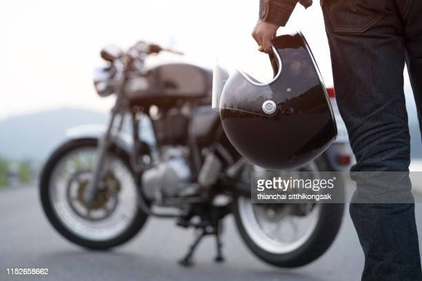 biker - motorcycle stock pictures, royalty-free photos & images