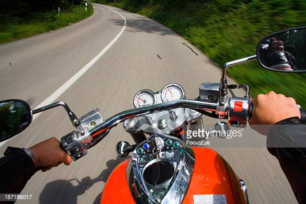 biker - handlebar stock photos and pictures