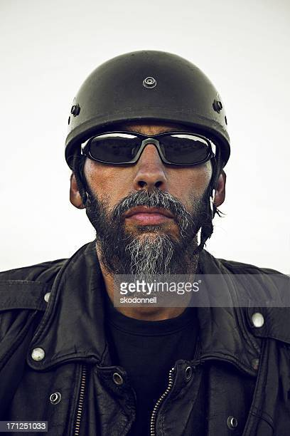 biker portrait - motorcycle biker stock pictures, royalty-free photos & images