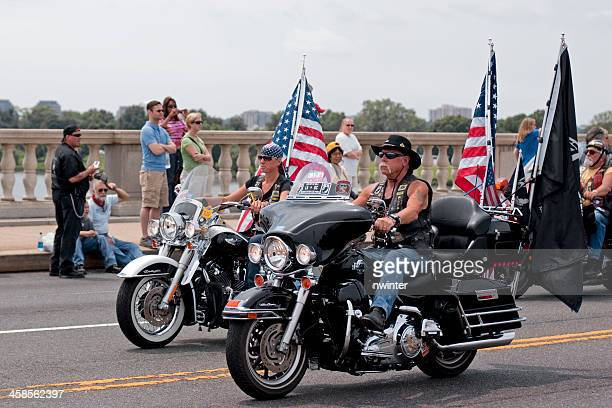 Bikers at Rolling Thunder motorcycle rally